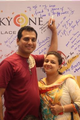 An adorable couple shares friendship goals with us at LuckyOne.