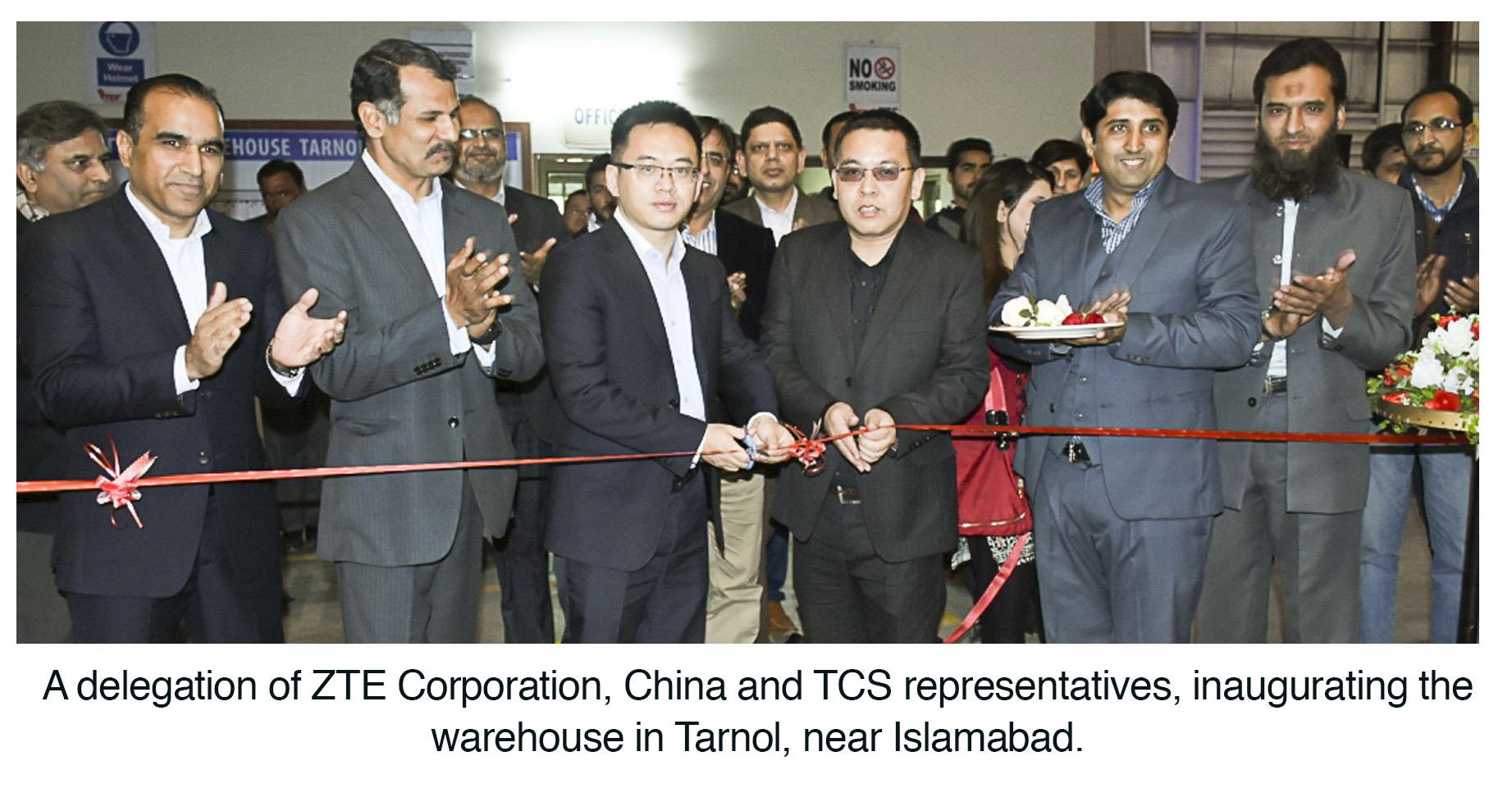 TCS inaugurates ZTE Warehouse in Tarnol | Cliff Pakistan
