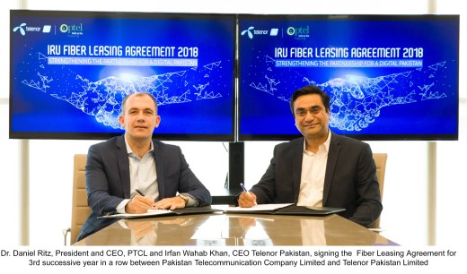 PTCL Telenor Fiber Leasing Agreement Picture English
