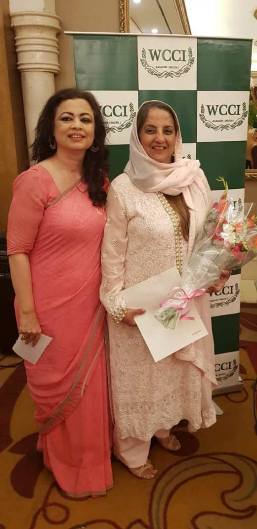 President Shaiyanne Malik and Senior Vice President Shanaz Ramzi at the WCCI 2nd Annual General Body Meeting