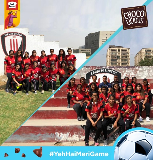 Peek Freans Chocolicious supporting The Karachi United women's team
