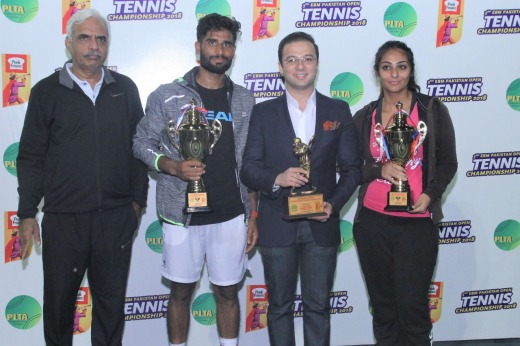 Winners of 3rd EBM-Peek Freans Pakistan Open Tennis Championship