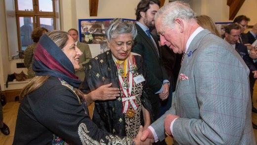Shanaz Ramzi, Yasmeen Lari and Prince Charles