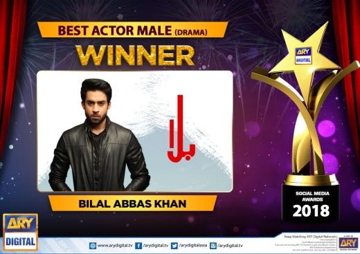 Bilal Abbas Khan wins Best Actor Male