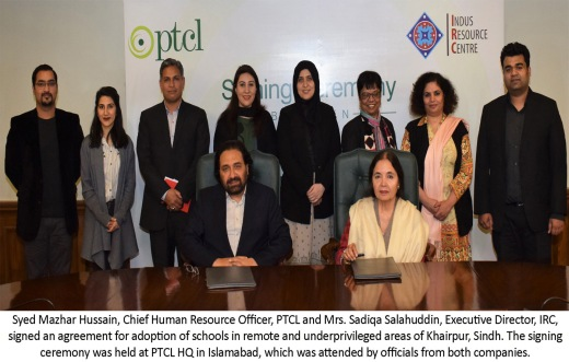 PTCL Collaborates with Indus Resource Center - English Caption pic