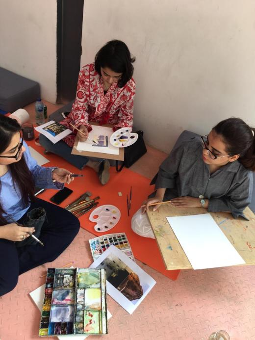 A three day watercolour workshop by Anum Ashraf (2)