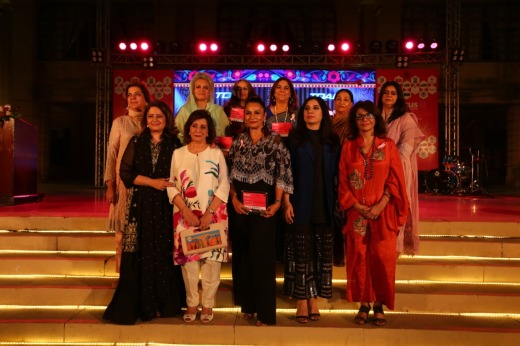 The Award Winners at the Women in Focus event hosted by Atiqa Odho at the Governor house, Karachi