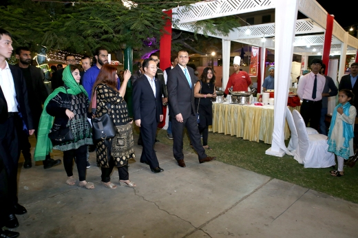 Mr. Chen Xiaodong, was spotted taking a tour of the Chinese cultural and food festival along with the organizers