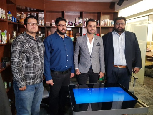 Zohair Hemani, Ali Abbas, Waseem Badami and Tahnoon Khan at WB by Hemani's office