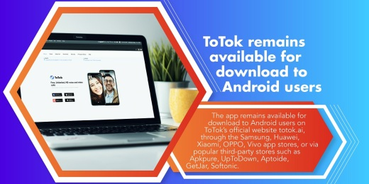 ToTok Photo Release 2 - ToTok remains eager to cooperate with Apple and Google to get back in their app stores (Mar 11, 2020)