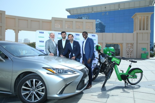 Photo Release - Careem and Visa sign landmark partnership to accelerate cashless payments and digital financial inclusion across Middle East and North Africa region - 28-06-2020